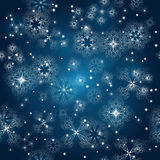 Seamless background with snowflakes Royalty Free Stock Images