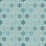 Seamless background with snowflakes. Seamless abstract winter pattern with snowflakes for Christmas royalty free illustration