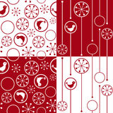Seamless background with snowflakes and birds Stock Photo
