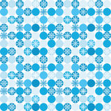 Seamless background with snowflakes in circles. For textiles, interior design, for book design, website background Stock Image