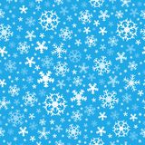 Seamless background snowflakes 6 Royalty Free Stock Images
