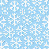 Seamless background with snowflakes. Vector illustration Stock Photo