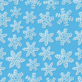 Seamless background with snowflakes Stock Photography