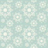 Seamless background of snowflakes. Vintage seamless background with snowflakes. Vector snow pattern Stock Images