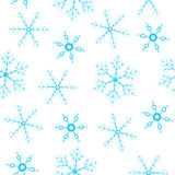 Seamless background with snowflakes Stock Photo