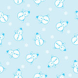 Seamless background of the snowman Royalty Free Stock Images