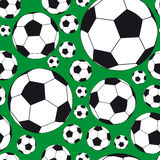 Seamless Background with soccer balls. Illustration for your design Stock Photography