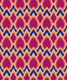 Seamless background southeast Asian retro aboriginal traditional. Art textile pattern curve cross frame oval geometry Royalty Free Stock Images