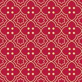 Seamless background southeast Asian retro aboriginal traditional. Art textile pattern curve cross frame round dot flower Stock Image