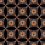 Seamless background southeast Asian retro aboriginal traditional. Art textile pattern curve round cross dot line frame Stock Images