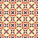 Seamless background southeast Asian retro aboriginal traditional. Art textile pattern curve round cross frame flower Stock Photo