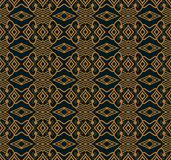 Seamless background southeast Asian retro aboriginal traditional. Art textile pattern diamond check cross frame line Stock Images