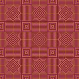 Seamless background southeast Asian retro aboriginal traditional. Art textile pattern polygon check square cross frame line Stock Images