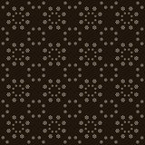 Seamless background southeast Asian retro aboriginal traditional. Art textile pattern round circle dot flower Royalty Free Stock Images