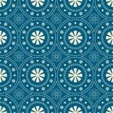 Seamless background southeast Asian retro aboriginal traditional. Art textile pattern round circle dot line flower cross Royalty Free Stock Image