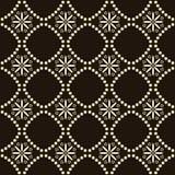 Seamless background southeast Asian retro aboriginal traditional. Art textile pattern round cross dot line flower Royalty Free Stock Photo