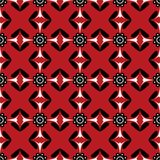 Seamless background southeast Asian retro aboriginal traditional. Art textile pattern round dot curve cross flower Royalty Free Stock Image
