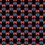 Seamless background southeast Asian retro aboriginal traditional. Art textile pattern sawtooth geometry Stock Image