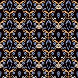 Seamless background southeast Asian retro aboriginal traditional. Art textile pattern sawtooth geomtry cross garden flower Royalty Free Stock Photography