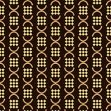 Seamless background southeast Asian retro aboriginal traditional. Art textile pattern semi round geometry check cross Stock Photos