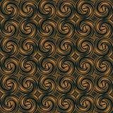 Seamless background southeast Asian retro aboriginal traditional. Art textile pattern spiral vortex round cross feather Royalty Free Stock Photos