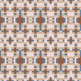 Seamless background southeast Asian retro aboriginal traditional. Art textile pattern square cross geometry check Royalty Free Stock Photos