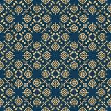 Seamless background southeast Asian retro aboriginal traditional. Art textile pattern square mosaic cross geometry Royalty Free Stock Photo