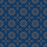 Seamless background southeast Asian retro aboriginal traditional. Art textile pattern star curve cross frame flower Royalty Free Stock Images