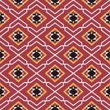 Seamless background southeast Asian retro aboriginal traditional. Art textile pattern star geometry cross frame Stock Photo