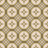Seamless background southeast Asian retro aboriginal traditional. Art textile pattern round cross star flower frame Royalty Free Stock Photography