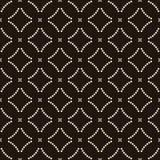 Seamless background southeast Asian retro aboriginal traditional. Art textile pattern round cross dot line Stock Image