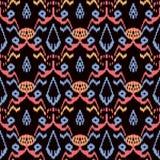 Seamless background southeast Asian retro aboriginal traditional. Art textile pattern sawtooth colorful geometry garden flower Stock Photo