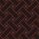 Seamless background southeast Asian retro aboriginal traditional. Art textile pattern cross check square geometry star flower Royalty Free Stock Images