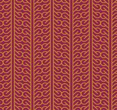 Seamless background southeast Asian retro aboriginal traditional. Art textile pattern curve spiral cross frame line Stock Image