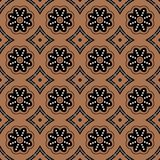 Seamless background southeast Asian retro aboriginal traditional. Art textile pattern round curve dot line flower Royalty Free Stock Photography