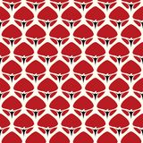 Seamless background southeast Asian retro aboriginal traditional. Art textile pattern curve cross garden red flower Royalty Free Stock Photo