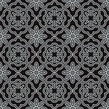 Seamless background southeast Asian retro aboriginal traditional. Art textile pattern curve cross round frame flower Stock Image
