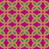 Seamless background southeast Asian retro aboriginal traditional. Art textile pattern curve round corner square cross geometry Stock Photos