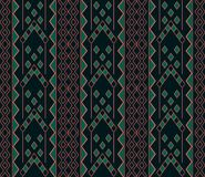 Seamless background southeast Asian retro aboriginal traditional. Art textile pattern triangle arrow square check geometry cross Royalty Free Stock Images