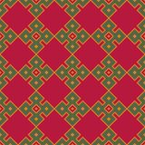 Seamless background southeast Asian retro aboriginal traditional. Art textile pattern square check cross frame geometry Stock Photography