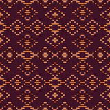 Seamless background southeast Asian retro aboriginal traditional. Art textile pattern check cross straight line frame Stock Photography
