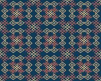 Seamless background southeast Asian retro aboriginal traditional. Art textile pattern spiral cross frame line Royalty Free Stock Photography