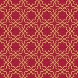 Seamless background southeast Asian retro aboriginal traditional. Art textile pattern golden curve cross frame line Royalty Free Stock Photos