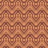 Seamless background southeast Asian retro aboriginal traditional. Art textile pattern stitch cross frame line Stock Photo