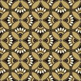 Seamless background southeast Asian retro aboriginal traditional. Art textile pattern round curve cross flower petals frame Royalty Free Stock Image