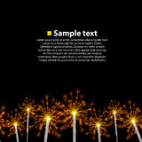 Seamless background sparkler Stock Photography