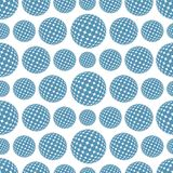 Seamless background with spheres. A seamless abstract background with geometrical figures Stock Photos