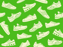 Seamless background of sports shoes Royalty Free Stock Photo