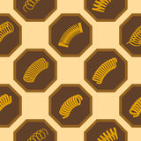 Seamless background with Springs Stock Image