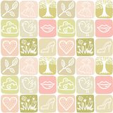 Seamless background in a square from nature and fashion elements. Vector illustration seamless background in a square from nature and fashion elements vector illustration